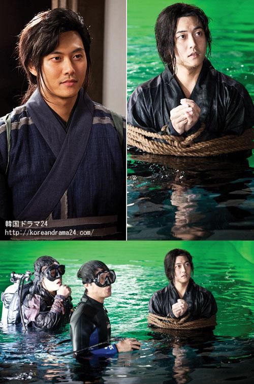 俳優ジェヒが韓国ドラマおすすめ時代劇、SBS月火ドラマ、チャンオクチョン、愛に生きる、水中撮影シーンを公開することにより、本格的な登場を予告した。公開された写真の中でジェヒは、両手がロープで縛られたまま撮影に臨んでいる。