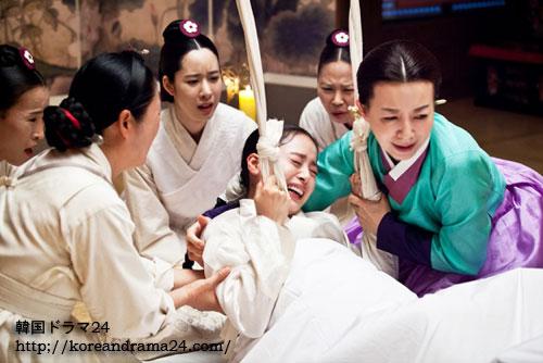 韓国ドラマ チャンオクチョン、愛に生きるあらすじ17話予告映像で、チャンヒビン(張禧嬪)に変身したキムテヒのリアルな初出産演技シーン公開!