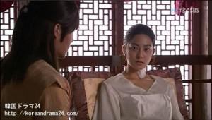 韓国ドラマ、おすすめの時代劇!シンイ-信義-あらすじ2話、魯国(ノグク)公主(パク・セヨン)、チャン・ビン(イ・フィリップ)映像、動画キャプチャ