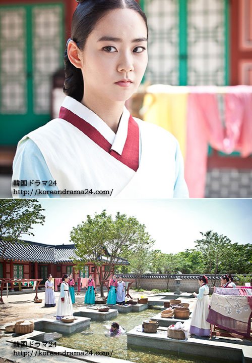 韓国ドラマ チャンオクチョン愛に生きるあらすじ20話映像!女官たちの嫌がらせにも堂々と強烈な目つきのチェムスリ役のハンスンヨン(ガールズ・グループ、KARA)!