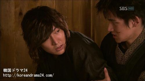 韓国ドラマ「シンイ-信義-」おすすめの時代劇あらすじ画像3話中イ・ミンホとオ・テマン役のキム・ジョンムン