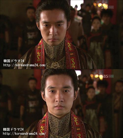 韓国ドラマ おすすめ 時代劇 、誰もいない高麗大殿はコンミン王の地位を物語っている、コンミン王役を演じるリュ・ドクファン画像