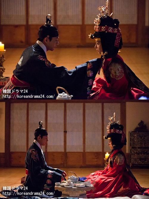 世子嬪、キムハウンと初夜を迎える、粛宗イスン役のユアイン!