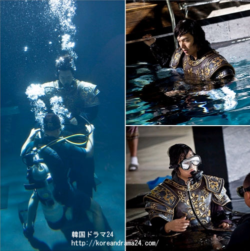 イミンホドラマ、新韓国ドラマ'信義'で水中シーン撮影中