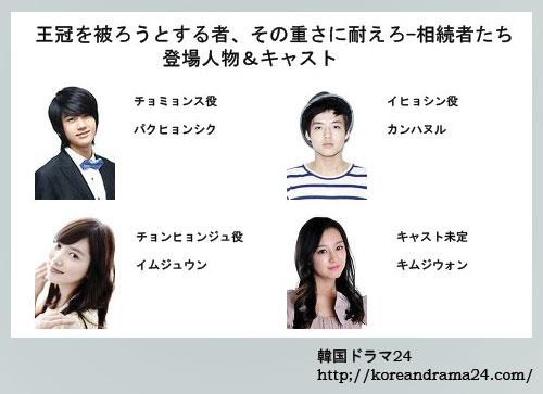イミンホ主演韓国ドラマ、相続者たち登場人物&キャスト紹介!