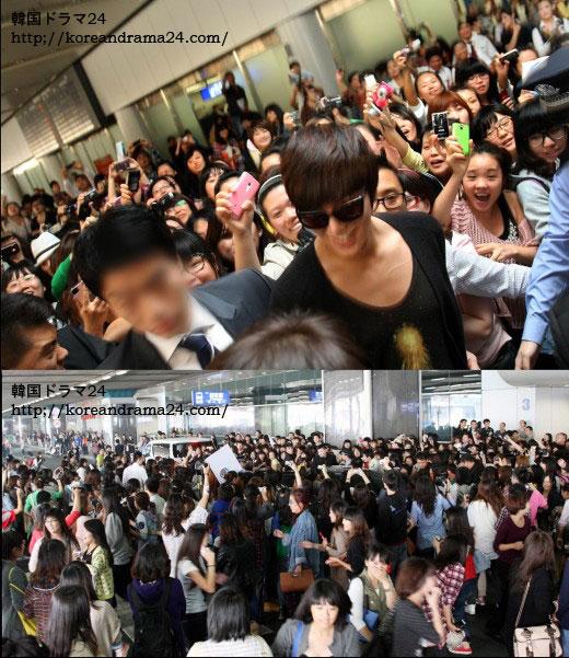 イミンホ、中国訪問、空港画像
